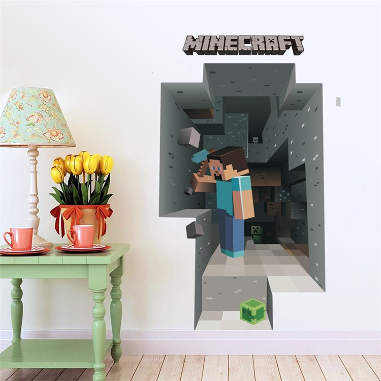 Minecraft Steve #24 Wall Sticker Wall Decals for Decorative Kids Room