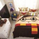 Twin Size Wonder Women Flash Minion Cartoon Bedding Set Quilt Cover Pillow Case Bedsheet