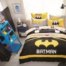 Queen Size Batman Cartoon #29 Bedding Set Quilt Cover Pillow Case Bedsheet