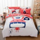 Queen Size Chibimaruko Cartoon Bedding Set Quilt Cover Pillow Case Bedsheet