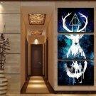 Harry Potter 3 Piece Wall Art Canvas Prints Small (35cmx50cmx3pcs)