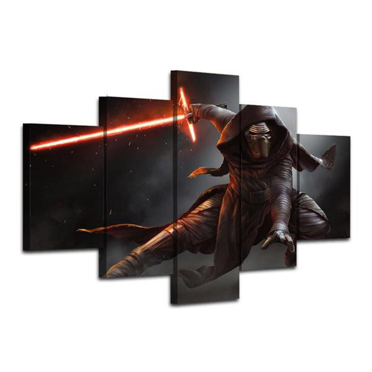 Star Wars 5 Piece Wall Art Canvas Prints (30x40cm, 30x60cm, 30x80cm)