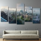 Star Wars 5 Piece Wall Art Canvas Prints (20x40cm,20x55cm)