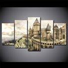 Harry Potter 5 Piece Wall Art Canvas Prints (20x35cm,20x45cm,20x55cm)