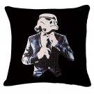 Star Wars #61 Cartoon  Cotton Linen Cushion Cover Case 18 INCH