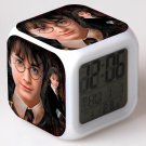 New Haryy Potter #08 Led Alarm Clock Figures 7 Color Flash Changing for Kids Bedroom