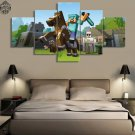 Minecraft 5 Piece Wall Art Canvas Prints (10x15cm,  10x20cm, 10x25cm) (no frame)