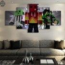 Minecraft 5 Piece Wall Art Canvas Prints (30x40cm,30x60cm,30x80cm) (no frame)