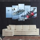 Star Wars 5 Piece Wall Art Canvas Prints (10x15cm,  10x20cm, 10x25cm) WITH FRAME
