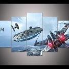 Star Wars 5 Piece Wall Art Canvas Prints (40x60cm, 40x80cm, 40x100cm) WITH FRAME