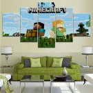 Minecraft 5 Piece Wall Art Canvas Prints (20x30cmx2,20x40cmx2,20x50cmx1) WITH FRAME