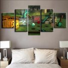 Minecraft 5 Piece Wall Art Canvas Prints (40x60cm,40x80cm,40x100cm) WITH FRAME
