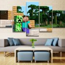 Minecraft 5 Piece Wall Art Canvas Prints 20x35cm,20x45cm,20x55cm (no frame)