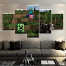 Minecraft 5 Piece Wall Art Canvas Prints (40x60cm,40x80cm,40x100cm) (no frame)