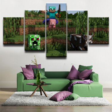Minecraft 5 Piece Wall Art Canvas Prints 40x60cm40x80cm