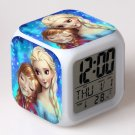 Anna and Elsa Frozen Disney #01 LED Alarm Clock for Gift