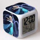 Anna and Elsa Frozen Disney #12 LED Alarm Clock for Gift