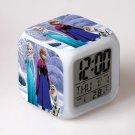 Anna and Elsa Frozen Disney #13 LED Alarm Clock for Gift