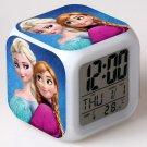Anna and Elsa Frozen Disney #15 LED Alarm Clock for Gift