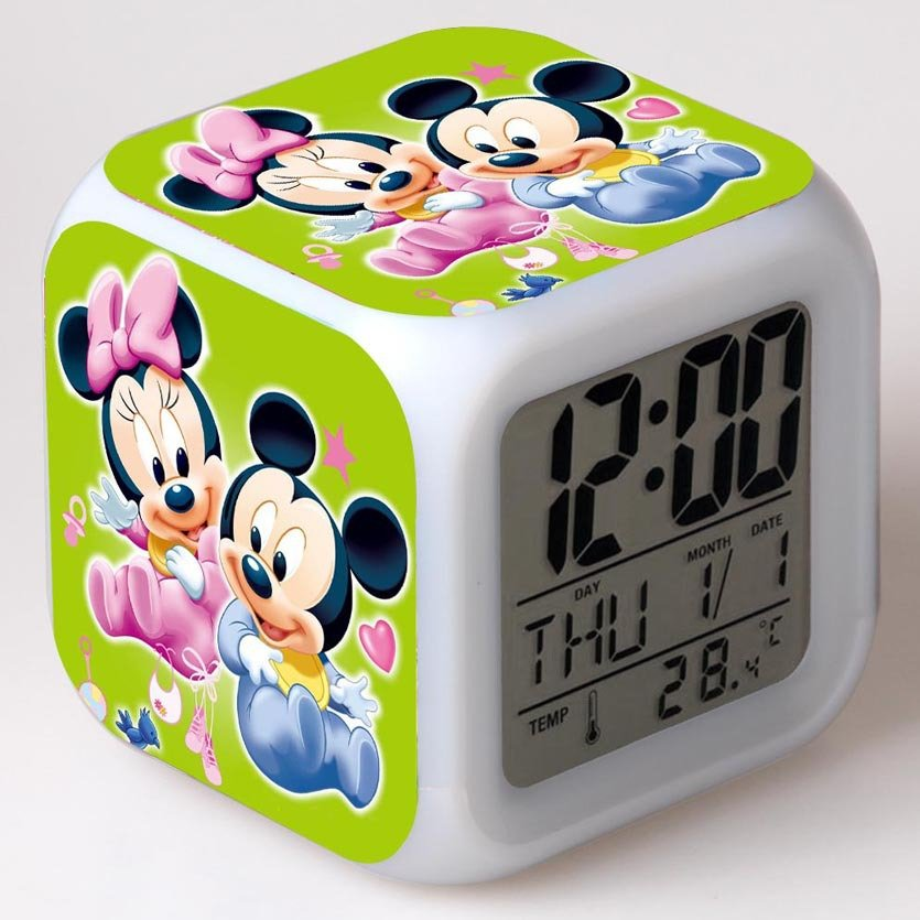 Mickey Mouse Disney #02 LED Alarm Clock for Gift