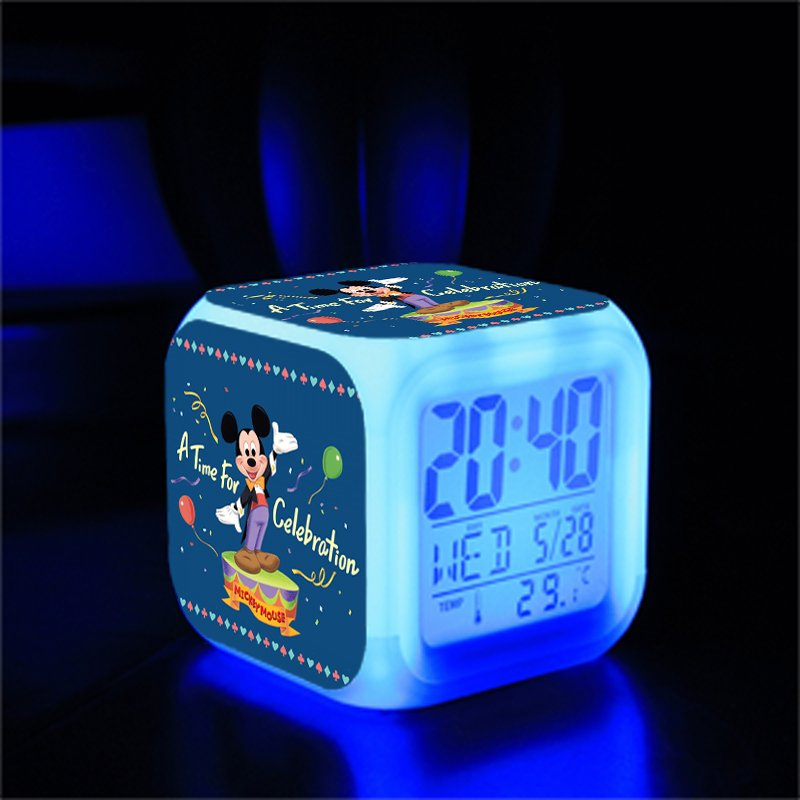Mickey Mouse Disney #04 LED Alarm Clock for Gift