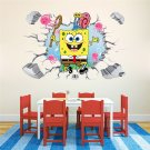 Spongebob #01 3D Wall Sticker Wall Decals for Decorative Mural Kids Room