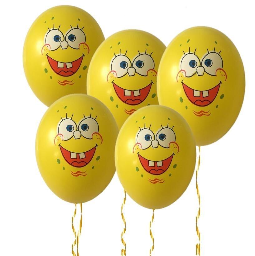 2019 #08 10pcs 12 inches SpongeBob Balloons Children's birthday party balloon decorations