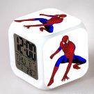 Spiderman Movie Cartoon #10 LED Alarm Clock for Gift