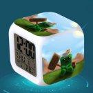 Minecraft Led Alarm Clock #43 Minecraft Cartoon Figures LED Alarm Clock