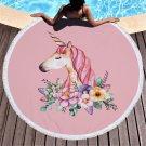 Unicorn cartoon series #07 Beach Towel Mat Travel Mat Home Decor Mat
