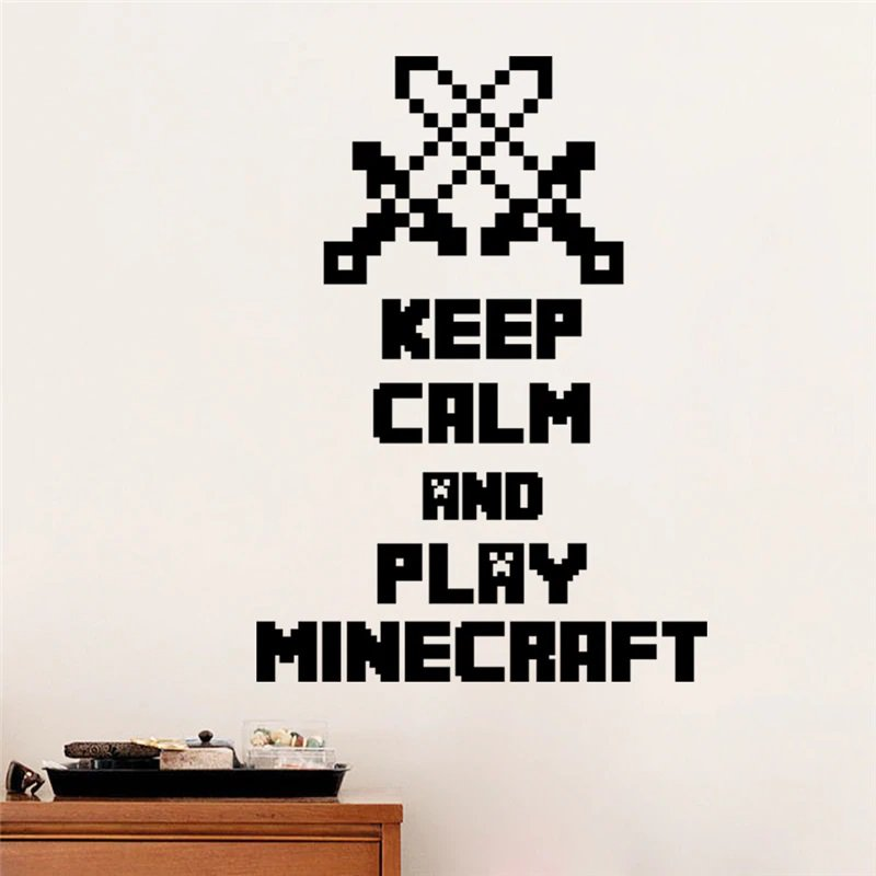 New Minecraft #08 Wall Sticker Wall Decals for Decorative Kids Room