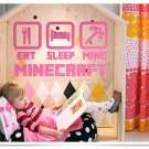New Minecraft #12 Pink color Wall Sticker Wall Decals for Decorative Kids Room
