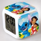 Lilo and Stitch Cartoon #05 LED Alarm Clock for Gift