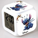Lilo and stitch Cartoon #09 LED Alarm Clock for Gift