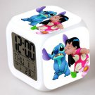 Lilo and stitch Cartoon #12 LED Alarm Clock for Gift