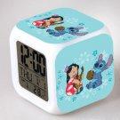 Lilo and stitch Cartoon #14 LED Alarm Clock for Gift
