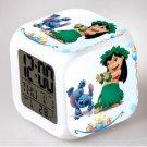 Lilo and stitch Cartoon #16 LED Alarm Clock for Gift