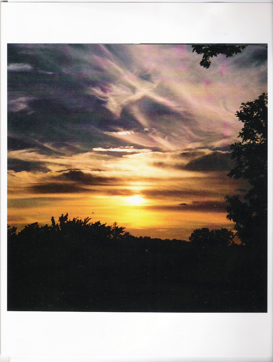 """Horizon Near Dusk #1"" - 8 x 10 - Color Film Photography - USA"
