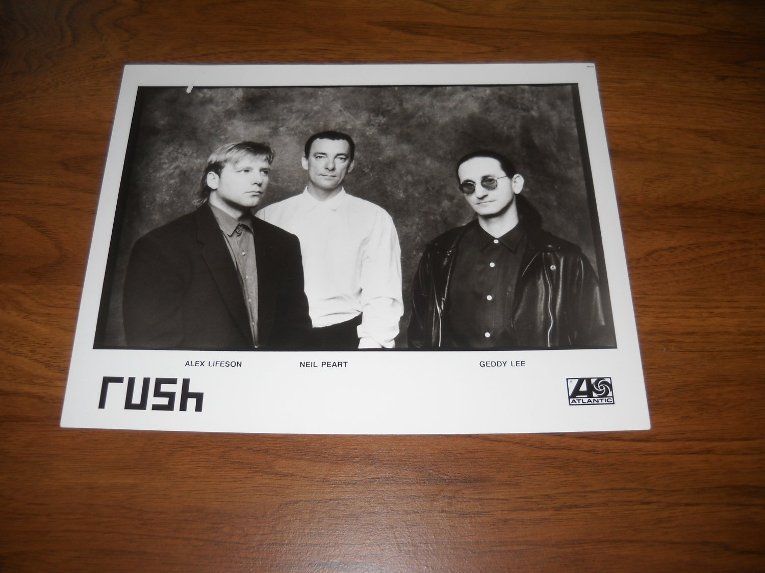 Rush - Roll The Bones - Press Kit Photo - b/w - 8x10 - Glossy