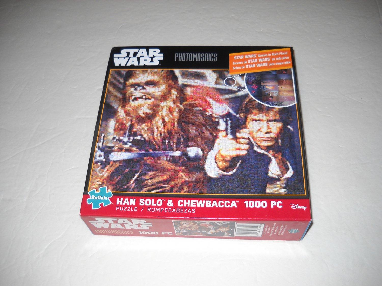 Star Wars Photomosaics 1000 Piece Jigsaw Puzzle - Han Solo & Chewbacca