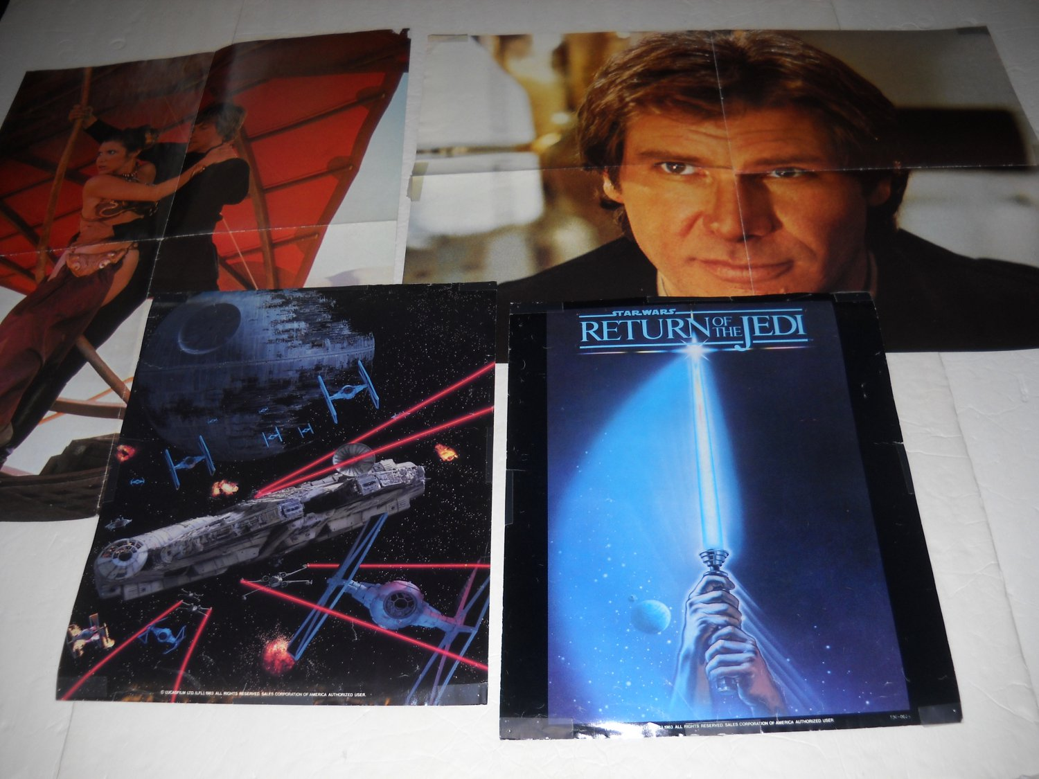 Star Wars: Return of the Jedi Posters (4)- Style A+Leia/Luke+Han Solo+Space Battle