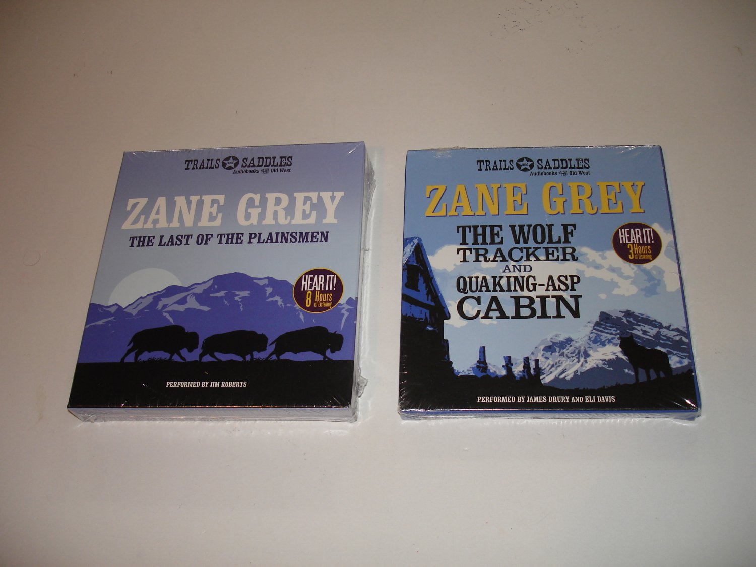 Zane Grey Westerns on Audiobook: LastPlainsmen + WolfTracker + QuakeAspCabin