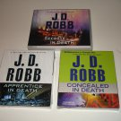 J.D. Robb Audiobooks (3): ApprenticeInDeath + ConcealedinDeath + SecretsInDeath