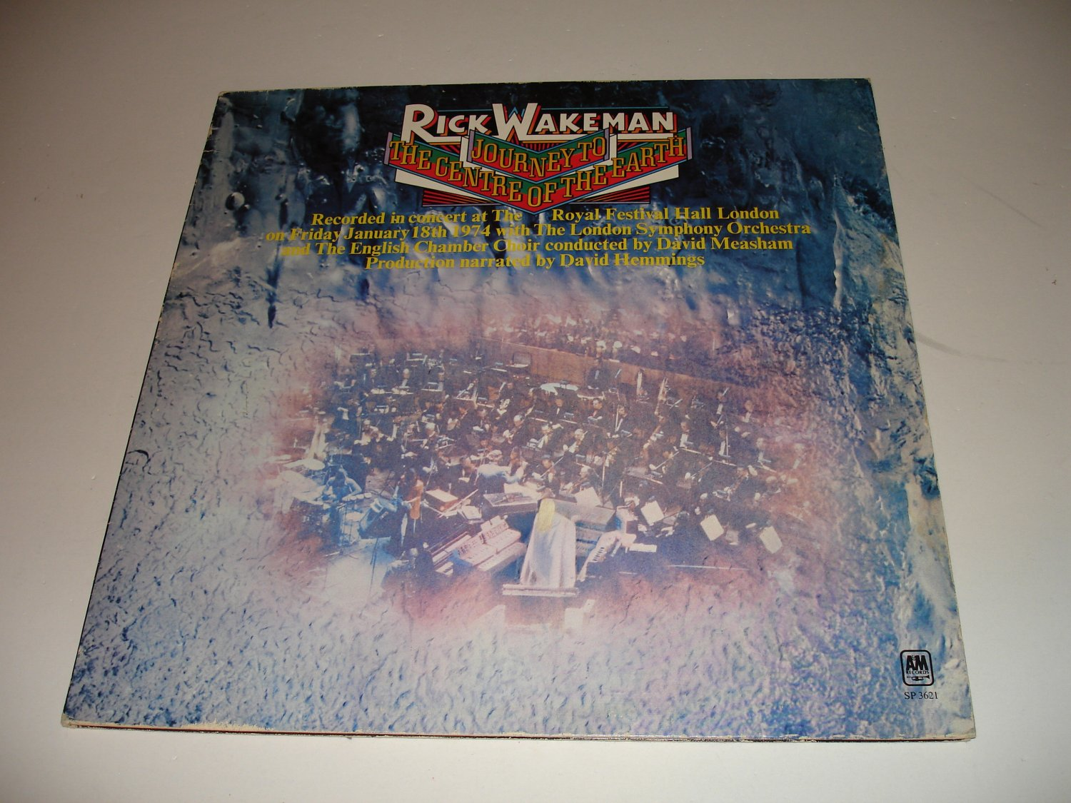 Rick Wakeman - Journey To The Center Of The Earth (SP-3621) on 33 rpm Vinyl LP
