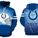 Indianapolis Colts NFL Football Hoodie Season 2018 Size L