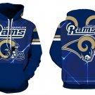 Los Angeles Rams NFL Football Hoodie Season 2018 Size L