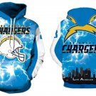Los Angeles Chargers NFL Football Hoodie Season 2018 Size 2XL