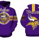 Minnesota Vikings NFL Football Hoodie Season 2018 Size L