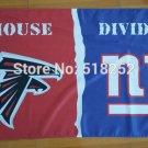 Atlanta Falcons New York Giants House Divided Flag 3x5 FT 150X90CM