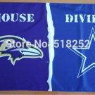 Baltimore Ravens Dallas Cowboys House Divided Flag 3x5 FT 150X90CM